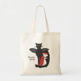 Kitty and mouse vampires tote bag