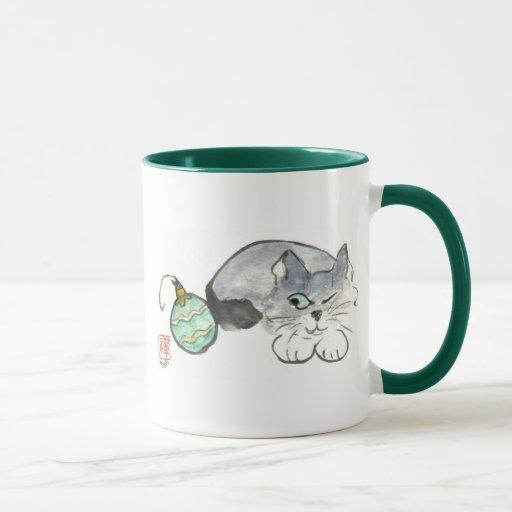 Kitty and Ornament Mug