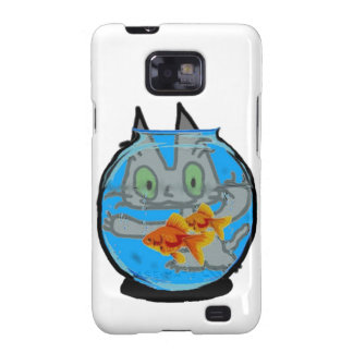 Kitty And The Fish Tank Samsung Galaxy S2 Covers