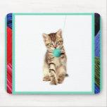 Kitty and Yarn Mousepad