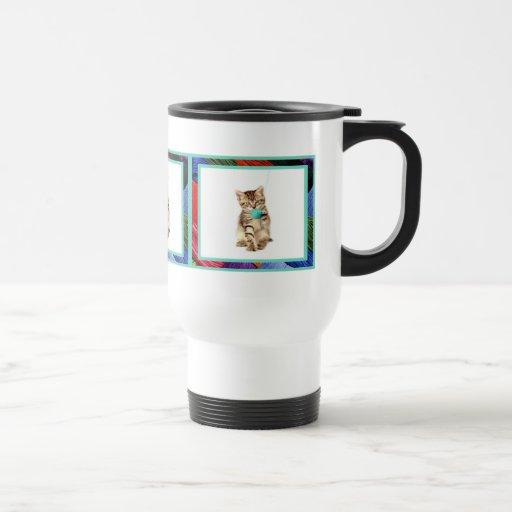 Kitty and Yarn Travel Mug