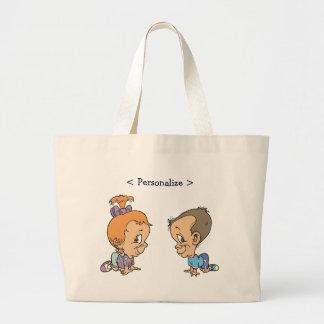 Kitty Ann and Jeffery Customize Bookbag Jumbo Tote Bag