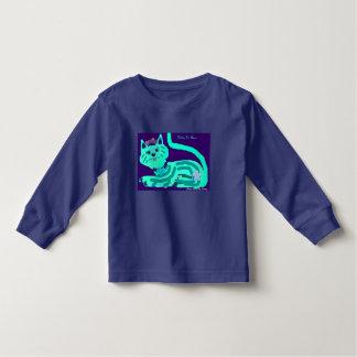 Kitty Aqua pretty crown toddler girl's long sleeve Toddler T-shirt