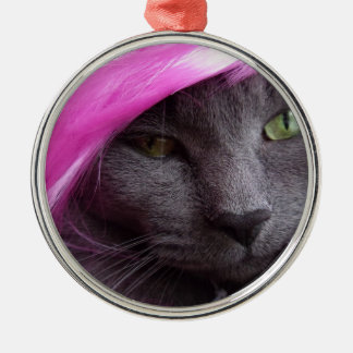 Kitty as Pink Diva. Metal Ornament