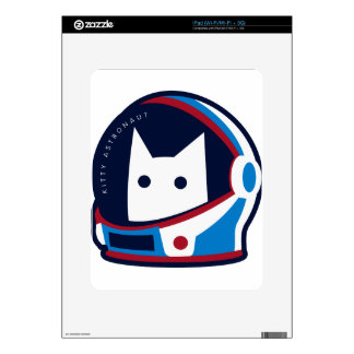 Kitty Astronaut Skin For iPad