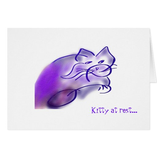 """""""Kitty at Rest"""" Notecard"""