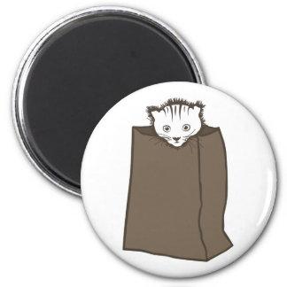 Kitty Bag 2 Inch Round Magnet