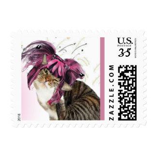 Kitty Big Wig Stamp. Postage