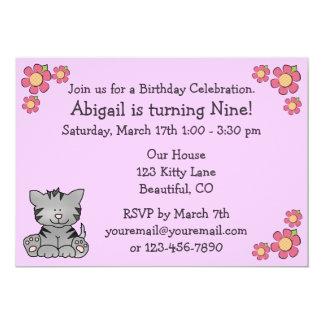 Kitty Birthday Invitation for Girls