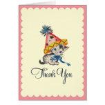 Kitty Birthday Party  |  Retro Thank You Card