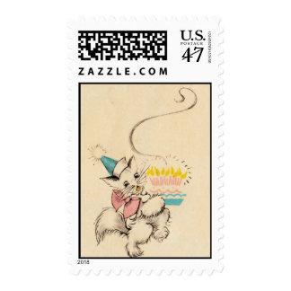 Kitty Birthday Stamps