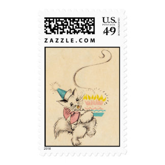 Kitty Birthday Stamps