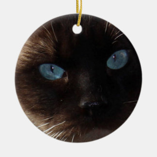 Kitty Blue Eyes Ceramic Ornament