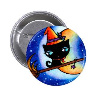 Kitty Bobbin Rides the Milky Way Button