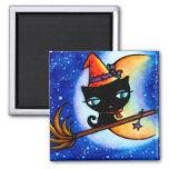 Kitty Bobbin Rides the Milky Way Cat Magnet