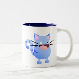Kitty Bounce Blue Mug