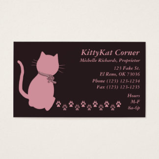 Kitty Business Cards