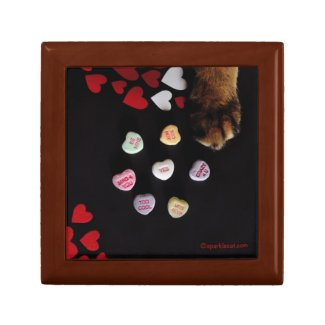 Kitty Candy Hearts Love Tile Gift Box