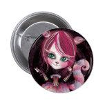 Kitty Cat 2 Inch Round Button