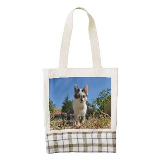 Kitty Cat Adventure Zazzle HEART Tote Bag