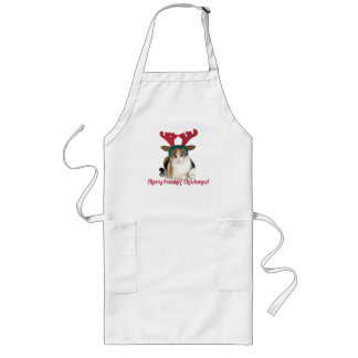 Kitty Cat & Antlers Merry Freakin Christmas Long Apron