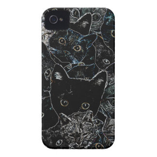 Kitty Cat Art iPhone 4 Case
