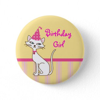 Kitty Cat Birthday Button button
