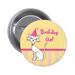 Kitty Cat Birthday Button