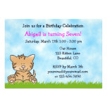 Kitty Cat Birthday Invitation for Girls