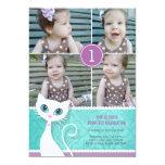 "Kitty Cat Birthday Party Photo Invitation - Girls 5"" X 7"" Invitation Card"