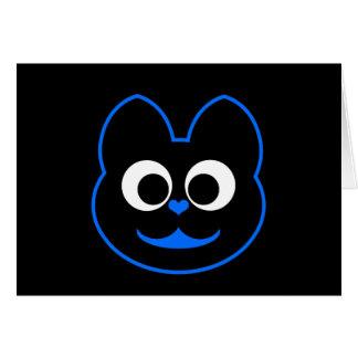 Kitty Cat Blue Card