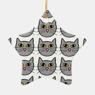 Kitty Cat Ceramic Ornament
