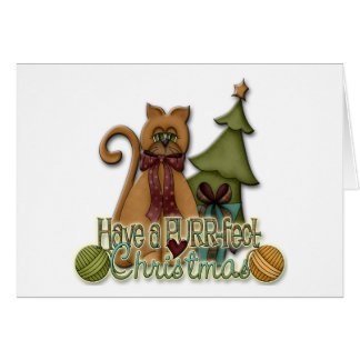 Kitty Cat Christmas Holiday Design Card