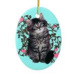 Kitty Cat Christmas Tree Ornaments