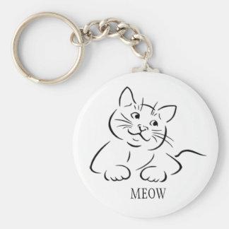 Kitty Cat Clipart   Customize Text   Custom Color Keychain