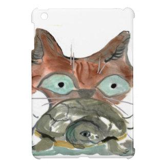 Kitty Cat Clutches his Turtle Pal iPad Mini Case