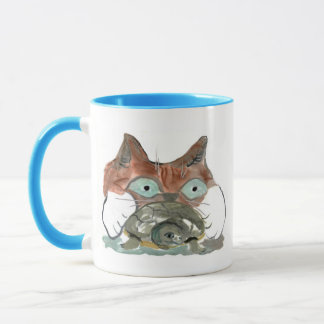Kitty Cat Clutches his Turtle Pal Mug
