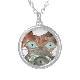 Kitty Cat Clutches his Turtle Pal Necklace