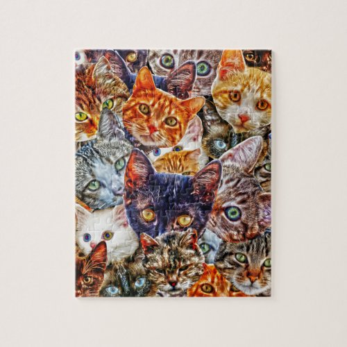 Kitty Cat Collage Jigsaw Puzzle