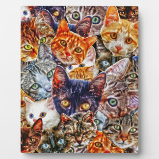Kitty Cat Collage Plaque