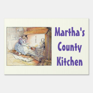 Kitty Cat Country Kitchen Restaurant Signage Lawn Sign