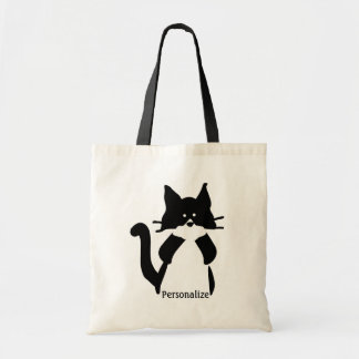 Kitty Cat Covering Mouth Tote Bag