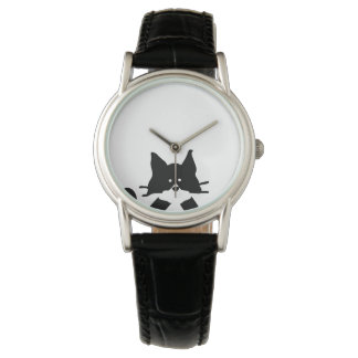 Kitty Cat Covering Mouth Wristwatch