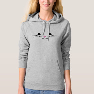Kitty Cat Cute Animal Face Design Hoodie
