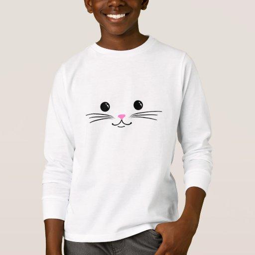 Kitty Cat Cute Animal Face Design T Shirt Zazzle