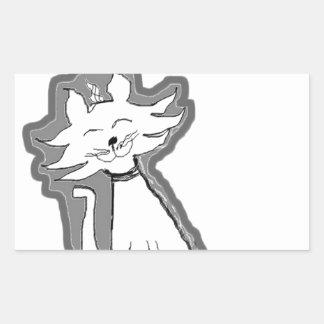 Kitty Cat Design Rectangular Sticker