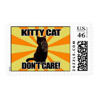 Kitty Cat Don t Care Postage Stamp