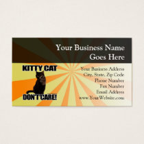 Kitty Cat Don't Care Business Card