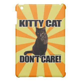 Kitty Cat Don't Care iPad Mini Cases