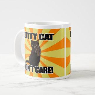 Kitty Cat Don't Care Jumbo Mug